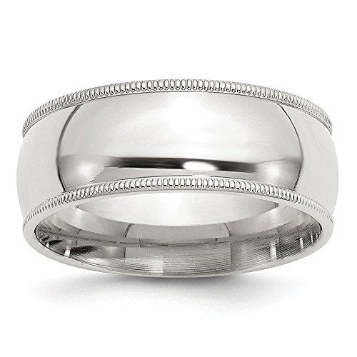 DIAMOND2DEAL INC Alianza de Plata de Ley de 8 mm para Boda Milgrain, Ajuste cómodo,...