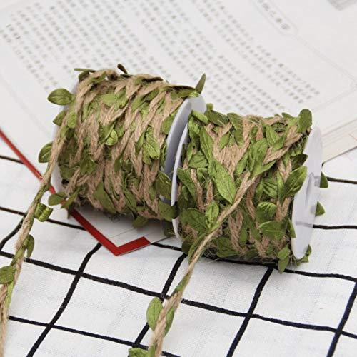DÉCOCO 2 Rollos Cuerda de Hilo de Colores Naturales Cuerda de Yute Cuerda de Yute para...