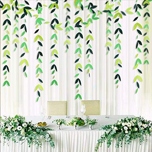 52 pies de verano Tema hoja verde guirnalda decoración para fiestas temáticas Kit papel...
