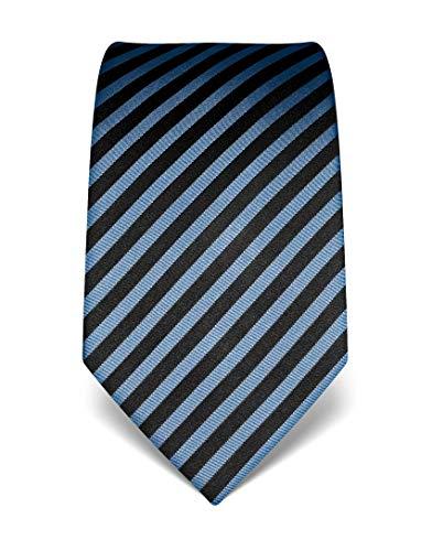 Vincenzo Boretti Corbata de hombre en seda pura, de rayas azul claro