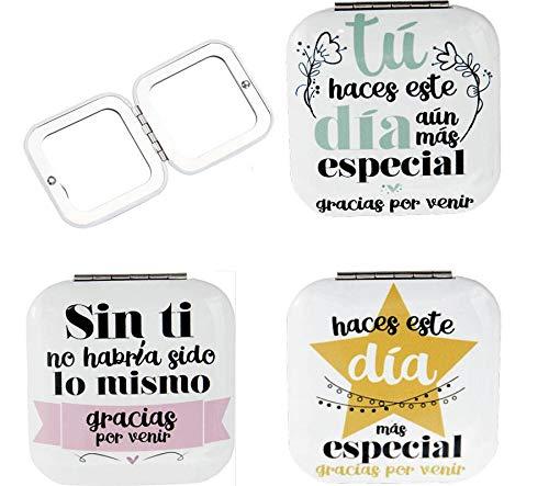 Lote de 20 Espejos Frases'Gracias por Venir' - Espejitos con Frases Originales Divertidas...