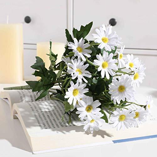 Plantas de Flores Artificiales Manojo de crisantemos Silvestres Flores Artificiales en...