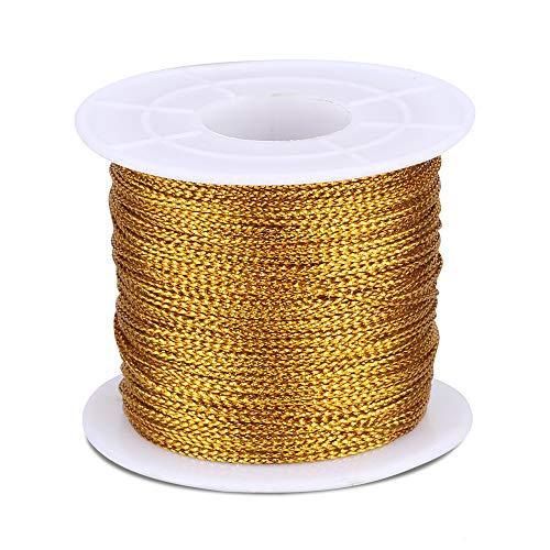 Cuerda de Navidad, 100 m de cordel con bobina, cuerda metálica de 1 mm, cuerda de...