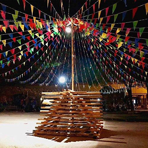 EDATOFLY 240M Multicolor Bandera banderín 450 Banderas banderines de Nailon Guirnalda de...