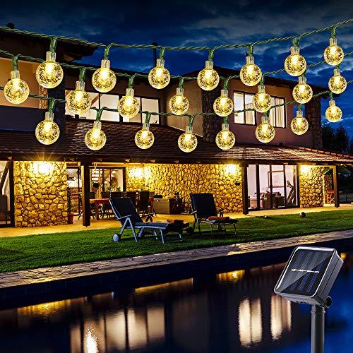 Guirnalda Luces Exterior Solares, BrizLabs 6.5M 30 LED Cadena de Luces Impermeable 8 Modos...