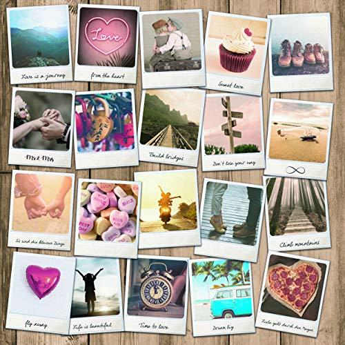 WeddingTree 52 Tarjetas Postales de Boda Vintage - Set de Tarjetas Postales en Formato...