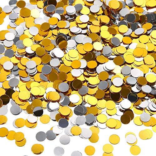 3,5 Onzas de Confeti de Círculo Confeti de Papel Metálico Brillante Confeti Redondo de...
