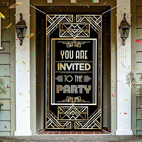 Decoración de Fiesta de Locos Años 20 Gran Tejido Retro de You Are Invited To The Party...