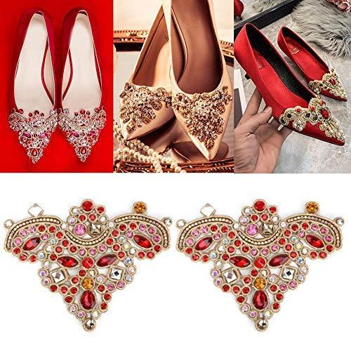 HEEPDD 2 unids Rhinestone Crystal Applique DIY Coser en Faux Pearl Patch para Zapatos...