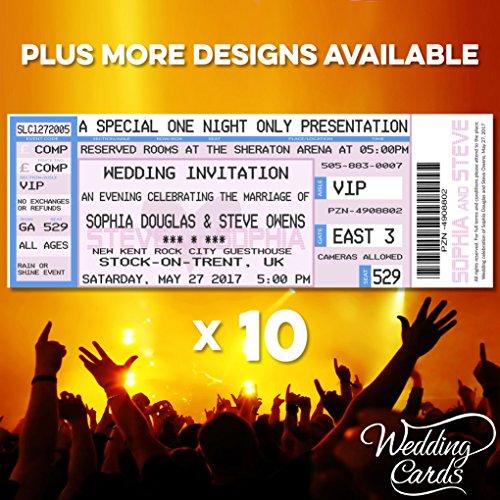10 x boda concierto ahorrar la fecha entradas invita a caso invitación fiesta...