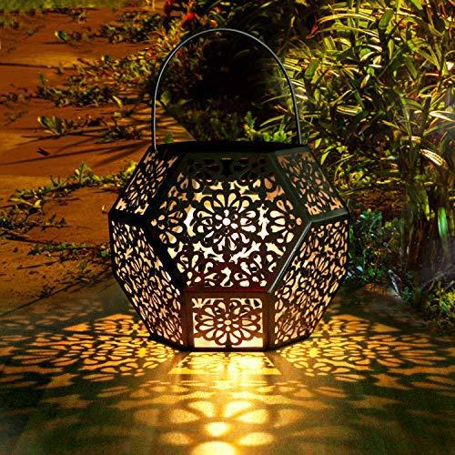 Farol Solar Exterior Jardin GolWof LED Lámpara Solar Jardín Luz Solar Exterio Luces de...