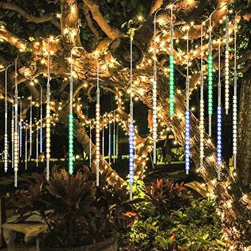 BlueFire Mejorada Guirlandas Luces Impermeable 50cm 10 Tubos 540 LED de Meteoros Lluvia...