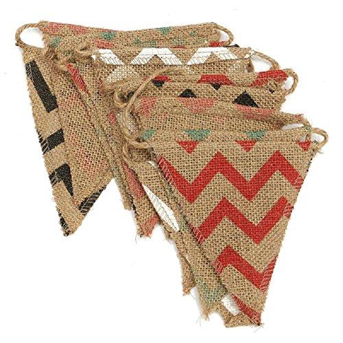 2.8 m Banderines de Yute,banderines de Lino,guirnaldas de Tela,para Dormitorio, Fiestas de...