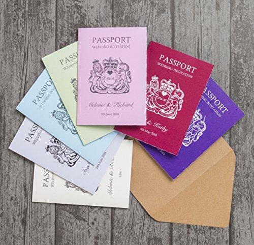 Invitaciones de boda personalizadas con sobres (20 unidades)