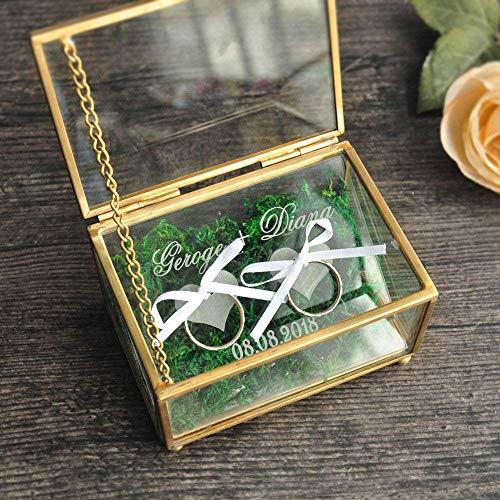 Caja de anillo de boda personalizado,Caja de anillo de boda personalizada,Caja de joyería...