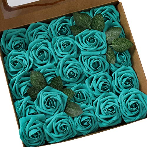 Ksnnrsng Flores Rosas Artificiales Espuma Rosa Falsa para Manualidades, Ramos de Novia,...