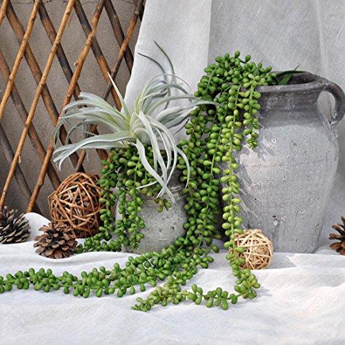 JUSTOYOU Plantas artificiales 30 cm de ancho, verde, toque real, plantas suculentas para...