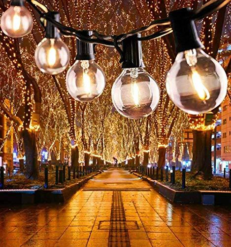 Guirnalda Luces Exterior, 7.62M Cadena de Luz, G40 Guirnaldas Luminosas de Exterior con 25...