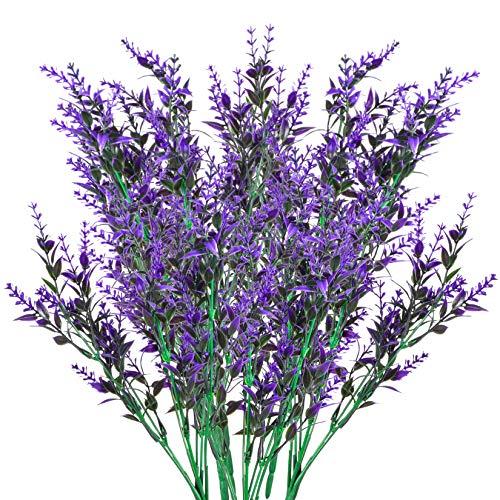 6 Pcs Flores Artificiales de Lavanda, Ramo de Lavanda, Planta Lavanda Decorativas, Flores...