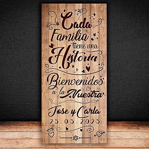 Decoración Boda   Cartel Boda Historia   70cm x 150cm
