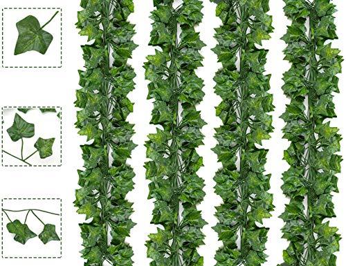 Boic Plantas Hiedra Artificial, Plantas Colgantes Artificiales Guirnalda Reutilizable...