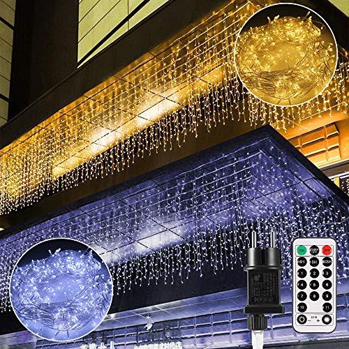 B-right Cortina de Luces, 440 LED Cortina de Luces de Hada Interior luces de navidad Luces...