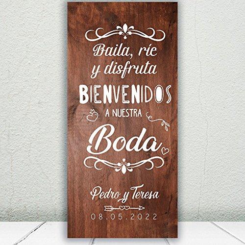 Decoración Boda | Cartel Boda Baila & Ríe | 70cm x 150cm