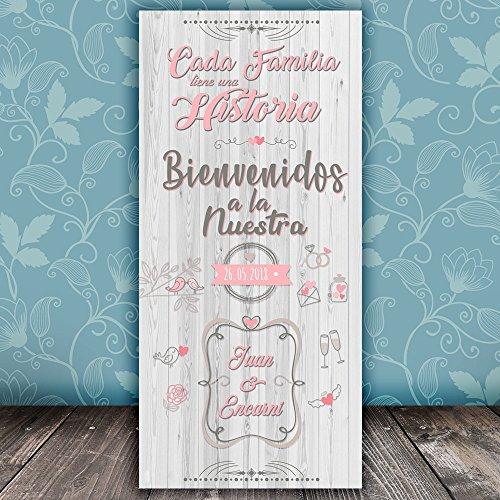 Decoración Boda   Cartel Boda Bienvenidos a Nuestra Historia   70cm x 150cm