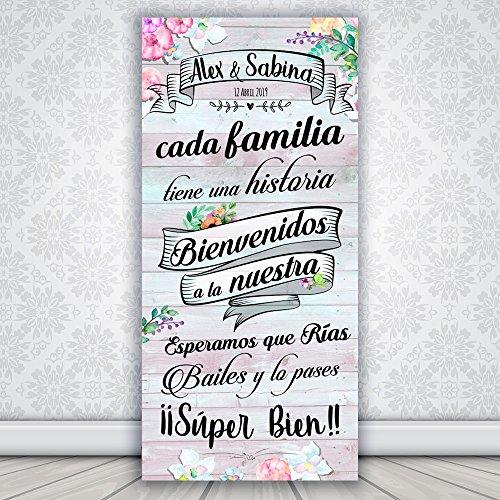 Decoración Boda   Cartel Boda Wedding Love   70cm x 150cm