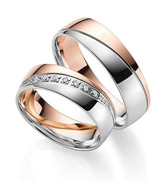 alianzas oro blanco y rosa