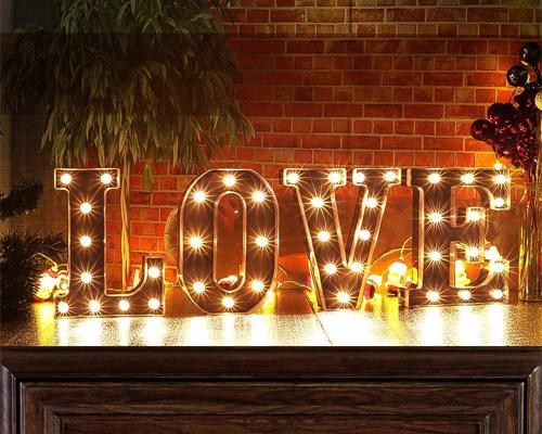 letras luminosas grandes