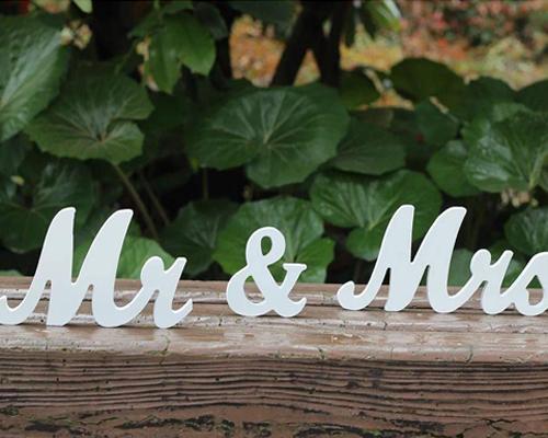 letras boda madera